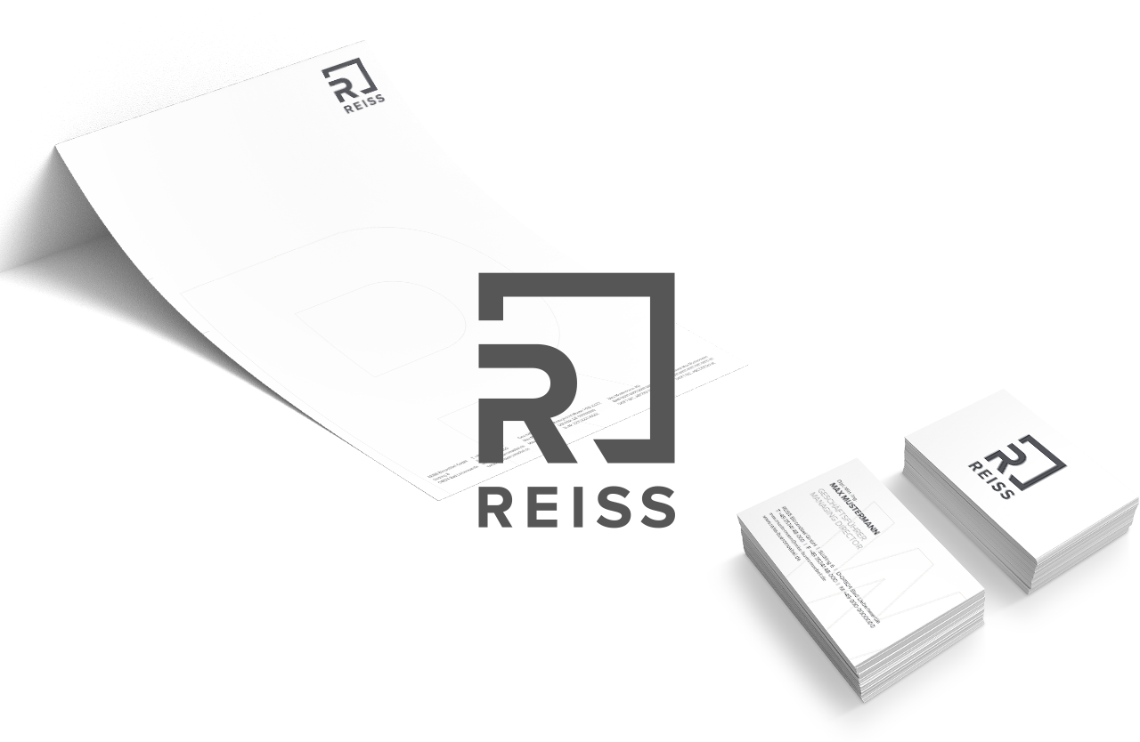 REISS Logo with business cards