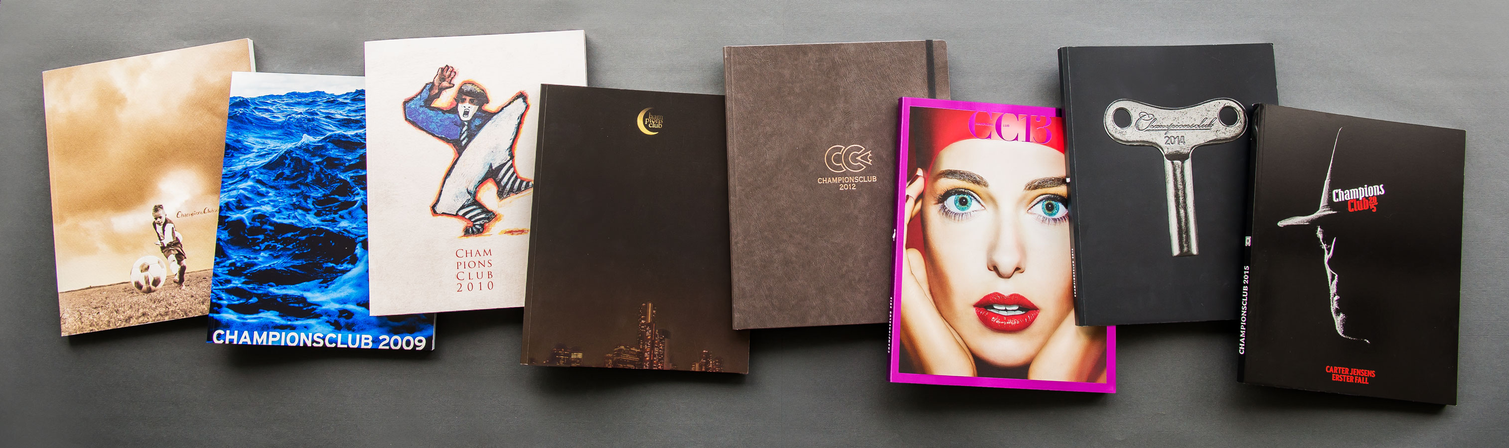Brochure covers from the various brochures